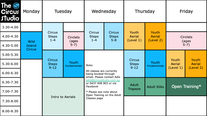 2021 Timetable